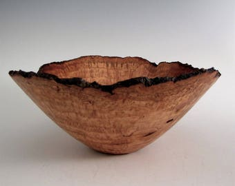 Wood Bowl - Cherry Burl Wood Bowl - Wood Turned Bowl - Wooden Bowl - Wood Turning Bowl -Wedding Gift - Wood Centerpiece Bowl -Gifts for Guys