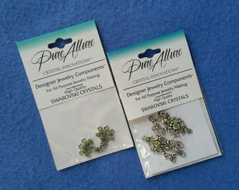 Peridot Swarovski Crystal Designer Jewelry Components, Victorian Chandeliers and Fan Chandeliers, new in package NIP, by Pure Allure