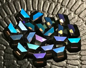 6pc 6mm Starlight Squares Swarovski Starlight squares 6mm squares
