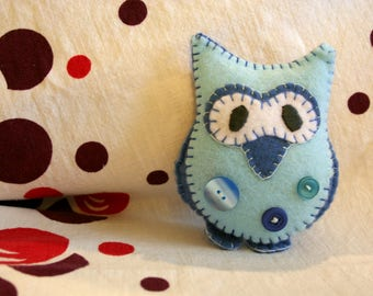 Blue Plush Owl