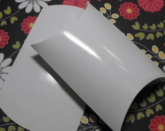 STOREWIDE SALE 12 Pack Pretty White Smooth gloss Pillow Boxes 4 X 3.5 X 1.45 Inch Size Great Packaging for Gifts, Party Favors, and More