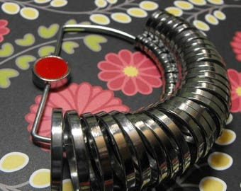 STOREWIDE SALE One New Professional Chrome Plated Steel Set of Ring Sizers