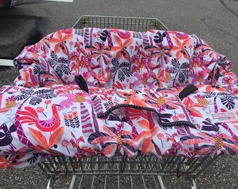 High Chair Cover Shopping Cart cover  for boy or girl.....  Shake your Tail Feathers Tropical.....michaelmooodesign