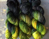 Space Predator PREORDER: Galaxy Inspired Hand-dyed Yarn for Knitters & Crocheters
