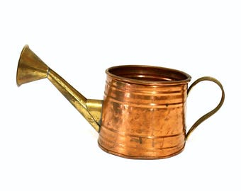 Decorative Hammered Copper & Brass Watering Can