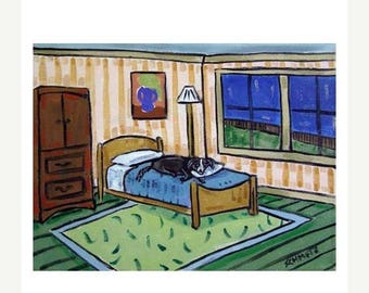 20 % off storewide Border Collie Taking a Nap Dog Art Print   JSCHMETZ modern abstract folk pop art AMERICAN ART gift