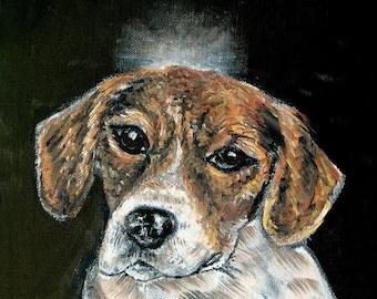 20 % off storewide BEAGLE angel dog print on ceramic modern TILE coaster gift JCHMETZ folk art