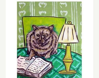 20% off Burmese Cat Reading a Book Animal Art Print