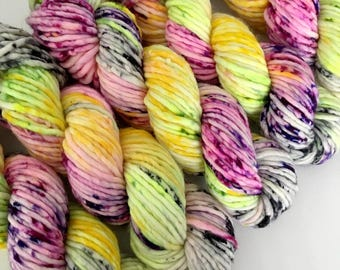 ALOHA - Hand Dyed Yarn - Chunky Singles Merino Nylon Yarn - Ready to Ship - Vivid Yarn Studio