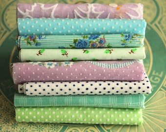 Vintage Flocked Fabric Bundle - Pastel Baby Doll Clothes Hair Bows -  Dotted Swiss Sewing Fabric Quilting - Fabric Book