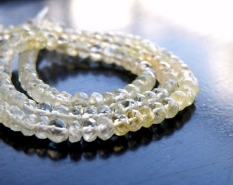 Deep Discount Sale Prehnite Gemstone Shaded Green Lime Faceted Rondelle 4mm 120 beads Full Strand