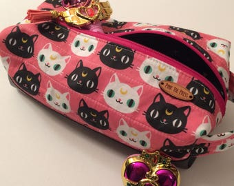 Sailor Moon Inspired Makeup Bag // Pencil Case // Zippered Bag // Square Bag // Dop Kit // Gift Set