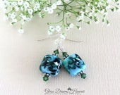 Glass Dangle Earrings, Sk...