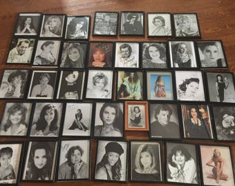 38 hand signed autographs from singers, movie stars, famous people