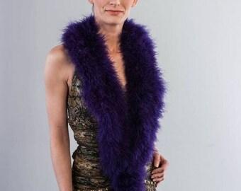 Promo Sale: Purple Marabou Wrap - Collar - Shrug