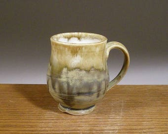 12 ounce, Coffee Mug, Stoneware, Handmade, Pottery Mug, Ceramic Coffee Mug , Beer or Tea