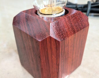 Padauk minimalist globe lamp