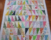 Scrappy, Modern and Fun Baby Girl Quilt