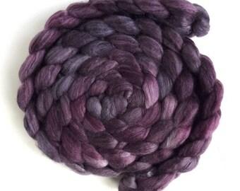 Merino/ Superwash Merino/ Silk Roving (Top) - Handpainted Spinning or Felting Fiber, Pink Shades