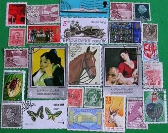 25 Antique Vintage Stamps Antique Vintage Postal Stamps Vintage Postage Stamps Foreign Postage Stamps