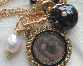 Victorian Mourning  Locket Victorian Hair Locket Mourning Jewelry