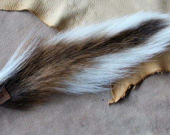 Deer Tail   Real Eco Friendly Natural Whitetail Deer Totem Tail On  Carabiner Keychain For