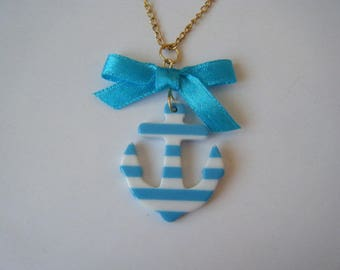 Turquoise pendant In the navy ♥ ♥