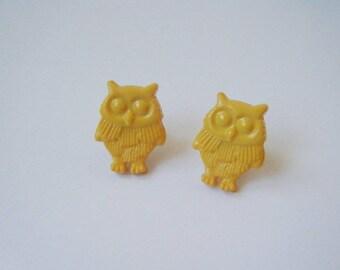 ♥ ♥ Yellow OWL earrings