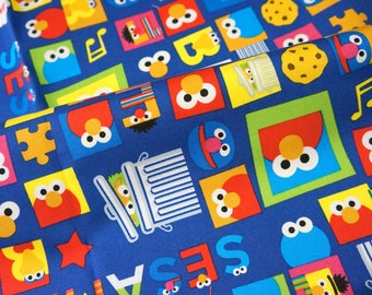 Sesame workshop licensed fabric Elmo sesame street character fabric 50 cm by 106 cm or 19.6 by 42 inches Half meter nu31
