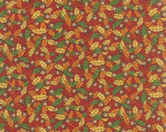 Clearance FABRIC FOREST FANCY Fall Acorns and Leaves by Moda   We combine shipping