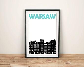 Warsaw Print // Poland Art // Warsaw Poster // Poland Print // Warsaw Art // Polish Print // Polish Poster // Polish Art // Polish Gifts