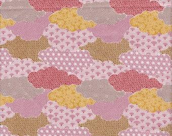 Paintbrush Studio Moon Rabbit Clouds in Pink - Half Yard