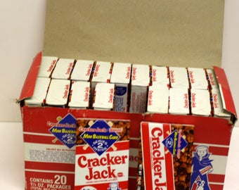 RARE 20 Sealed Cracker Jack Boxes in Display Box with Donruss Mini Baseball cards inside ea, Factory SEALED Boxes,UNOPENED