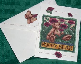 NOTECARDS---More Garden Party Bears and Flowers