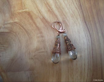 Ancient Days Copper & Green Amethyst (Prasiolite) Earrings II