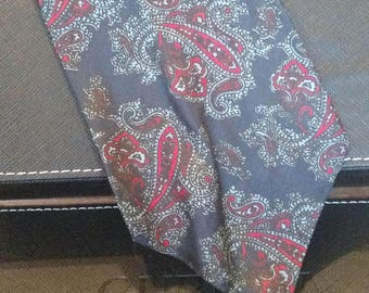 Jackson & Moyer LONDON - Vintage Necktie - Paisley Print - Free U.S. Shipping