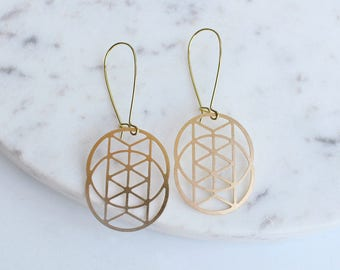 BACKORDERED Chevron Venn Circles Earrings | ATL-E-220