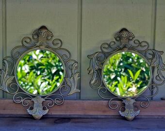 Vintage Home Interiors Mirrors Pair