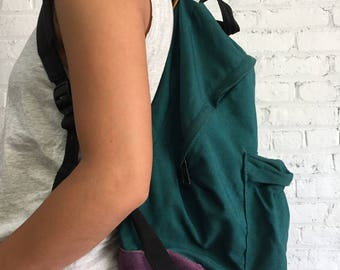 90s colorblock Eastpack backpack / 1990s school bag rucksack book bag