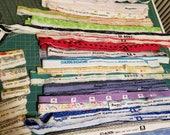 SELVAGE Bundle 34 - Fabric selvage selvedge supplies Quiltsy Destash