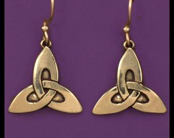 CELTIC TRINITY KNOT - Earrings- Bronze