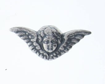 Brass stamping Cherub with wings , victorian motif ,  sold by each 04238CS