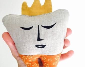 Tooth Fairy Pillow with Orange Pants