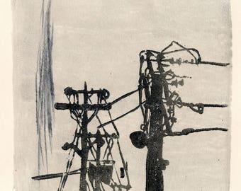 Monoprint No.14, urban scapes original art
