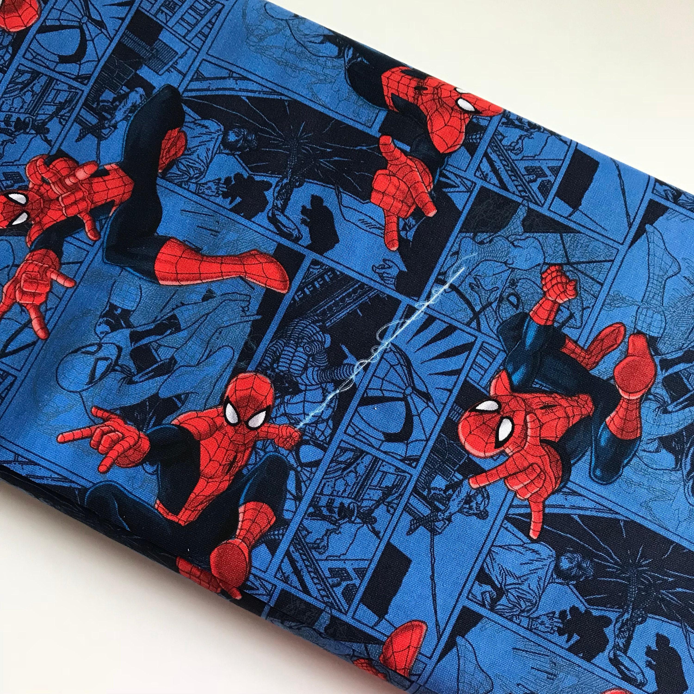 Marvel spiderman comic blue cotton woven sewing quilting - Marvel spiderman comics pdf ...