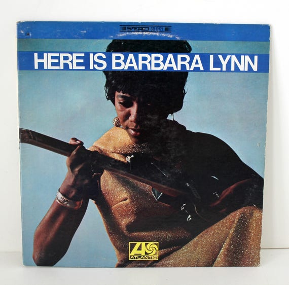 Vintage Here Is Barbara Lynn LP Record Album, Atlantic SD 8171, 1968 Soul R&B