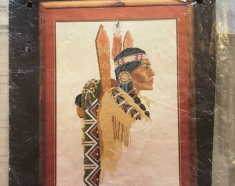 Vintage Bernat INDIAN PRINCESS Counted CrossStitch Pattern Only