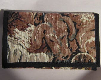 Tapestry Fabric DACHSHUND Ladies Wallet/Checkbook made in USA