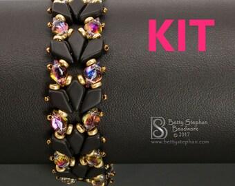 Kite Bracelet version 1 black beading kit