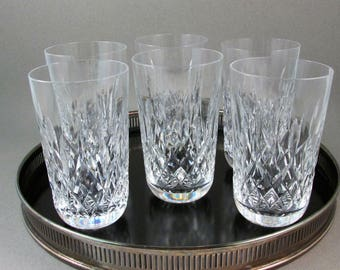 Vintage Waterford Lismore 12 oz Tumbler Glasses Set of Six Fine Crystal Glasses Wedding Gift Anniversary Gift